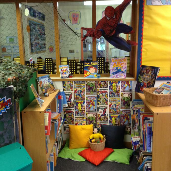 Our super reading area!