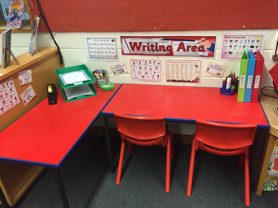 The writing area.