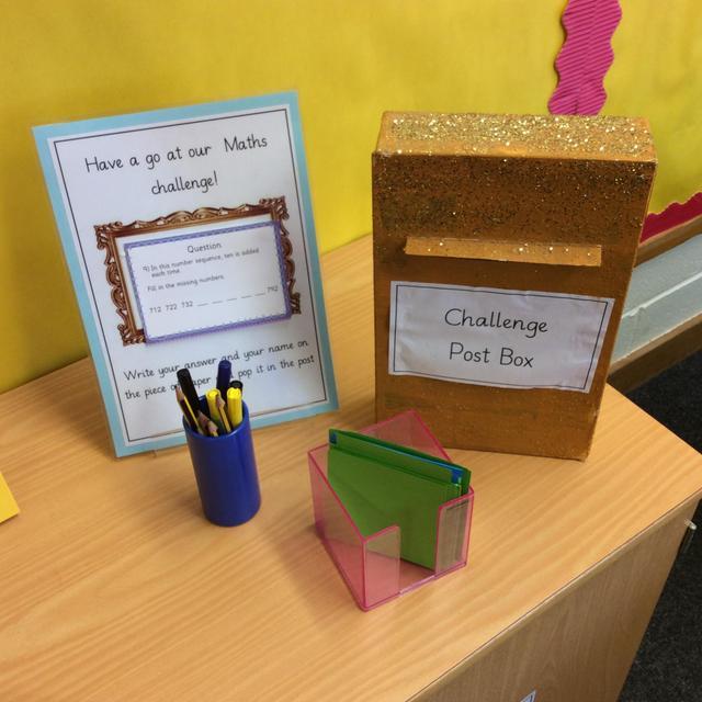 Maths challenge boxes
