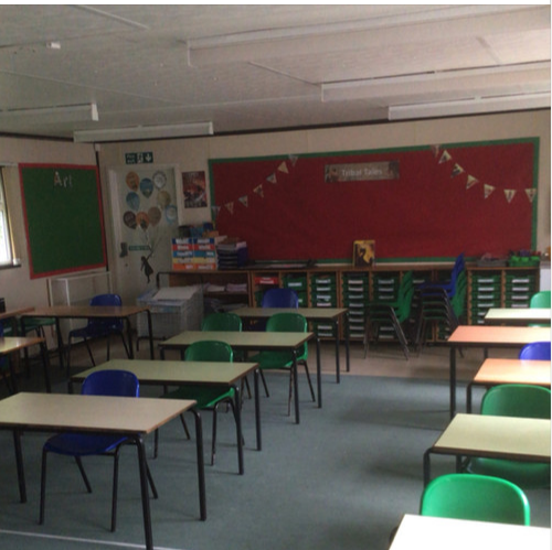 The new classroom layout.