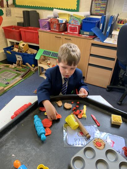 Reception children have been busy in class 1.