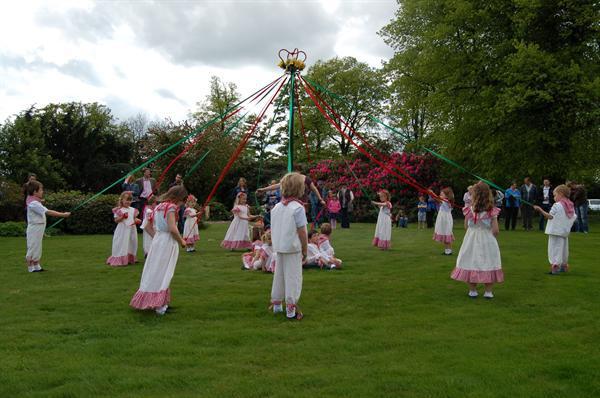 Maypole Dancing at Yeldersley