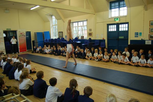 An Olympic Gymnast visits our school