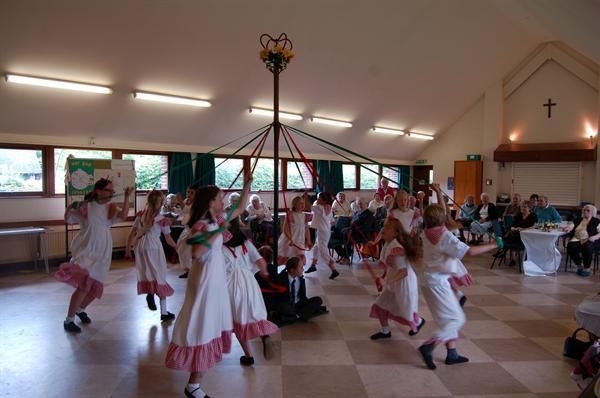 Maypole Dancing for the Old People's Luncheon Club
