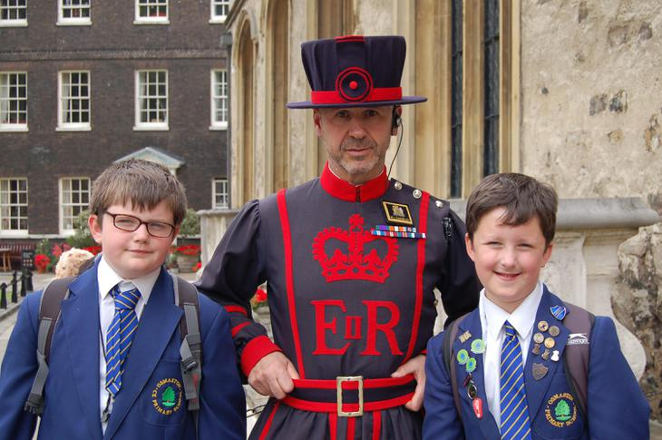 Meeting a Beefeater.