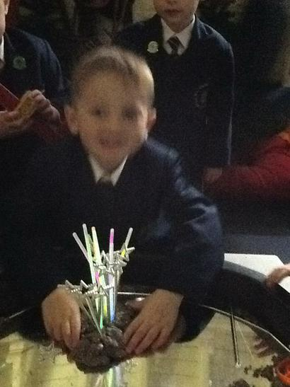 Using glow sticks and finding out about light.