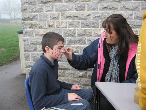Face painting - going spotty for Children In Need