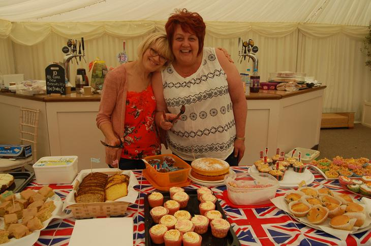 A delicious cake stall.