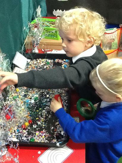 Exploring shiny objects to make firework pictures.