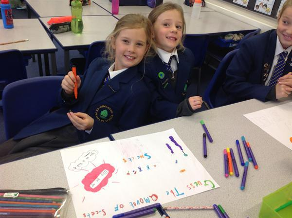 The School Council making posters