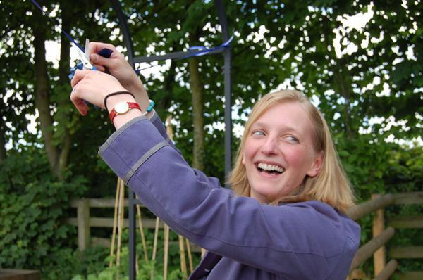 Governor Phillipa Walker-Okeover opens our garden