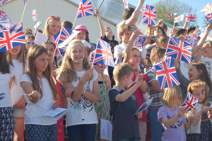 Everybody sang 'Land of Hope and Glory'.