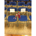 George and Elf at Special Mention Assembly