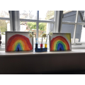 Connie and Issy-Rainbows and Flower Experiement