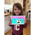 Hattie and her iPad art