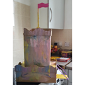 Bethany built and painted a castle