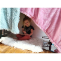 Bethany made a cosy place to read her books