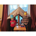 Connor built a castle with his sister.