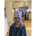 Bethany made a crown