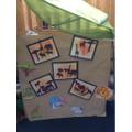 Safari artwork by the children in school