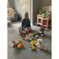A picnic with Bethany and her toys
