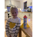 Bethany built a rocket