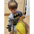 Toby found lots to describe in his mystery feely bag