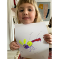 Edie created her own animal with different animal parts
