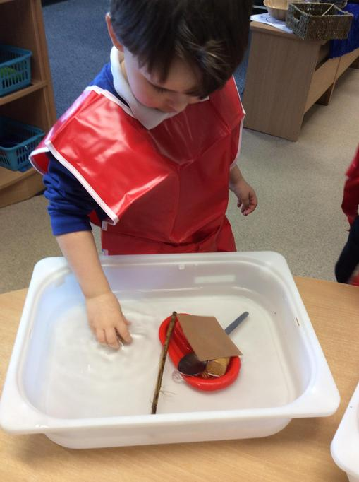 Alec filled his boat to make it heavy!
