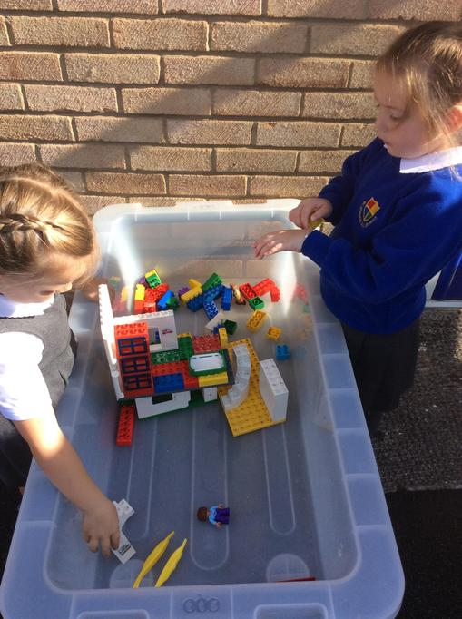 building houses using the Lego.