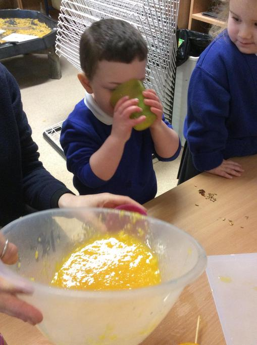 Jacob loved drinking the juice from the oranges.