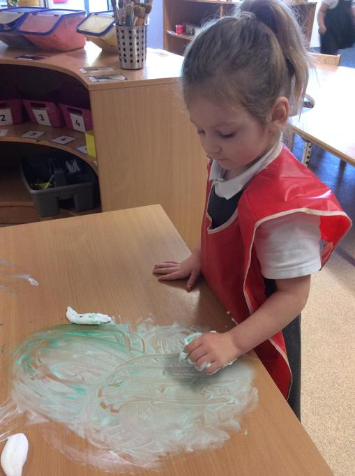 Spooky shaving foam pictures