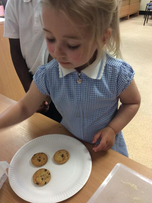 Ella was great at sharing the cookies.