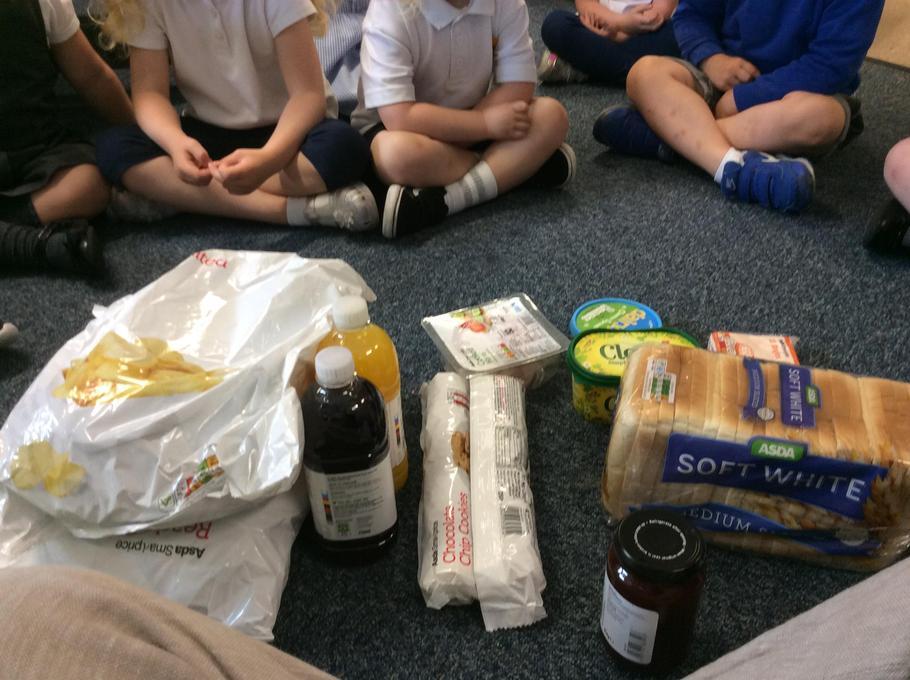 The picnic food