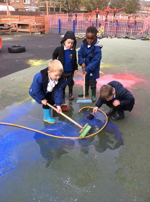 The afternoon children added water!