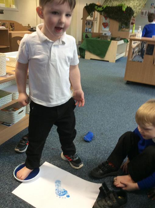 We looked at our own footprints!