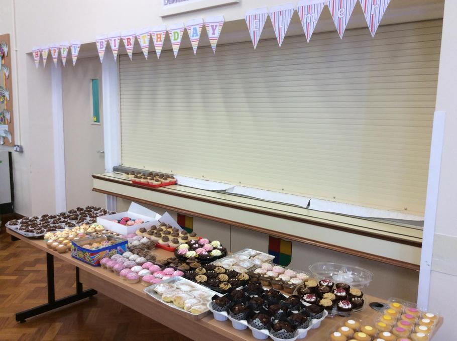 Our cake sale.