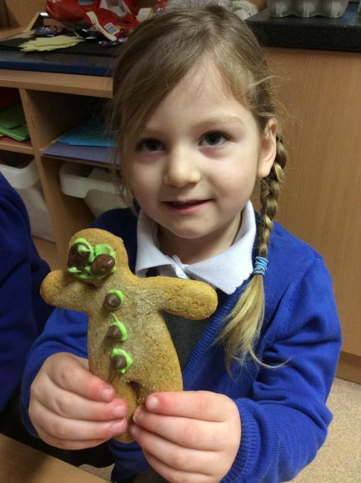 We love Elise's gingerbread man.