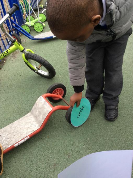 Tino found lots of circle wheels.