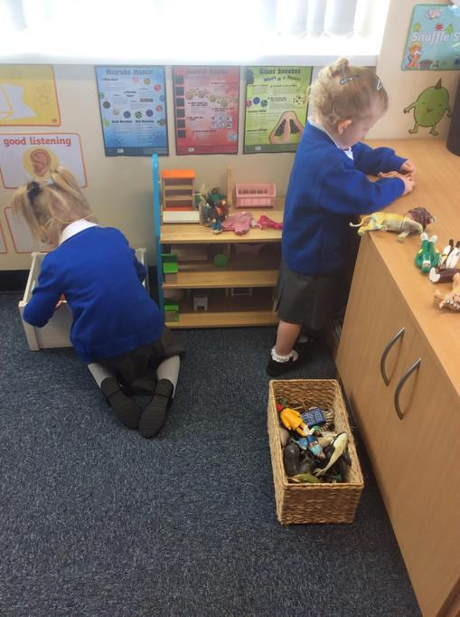 Emelia and Hannah have enjoyed playing with the dolls house together.