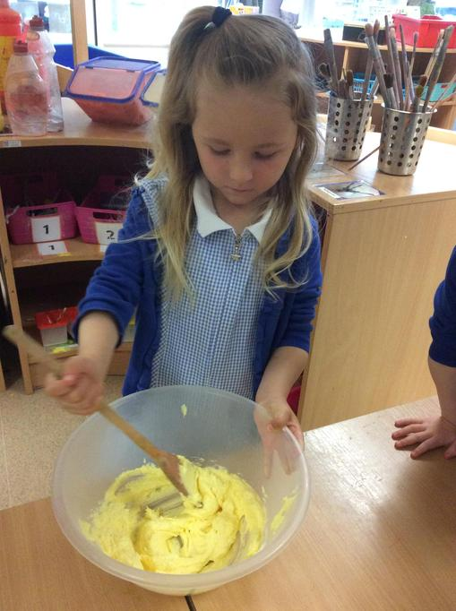 Olivia was great at mixing them.