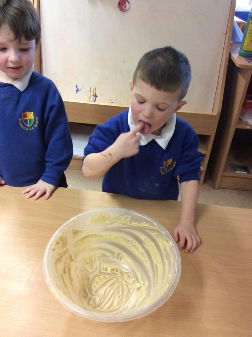 Mmm we all tasted the mixture!