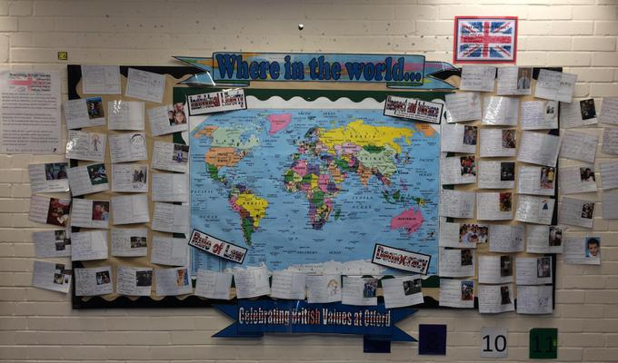 Our British Values Display: Where in the World