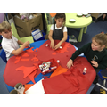 Making giant poppies for Remembrance