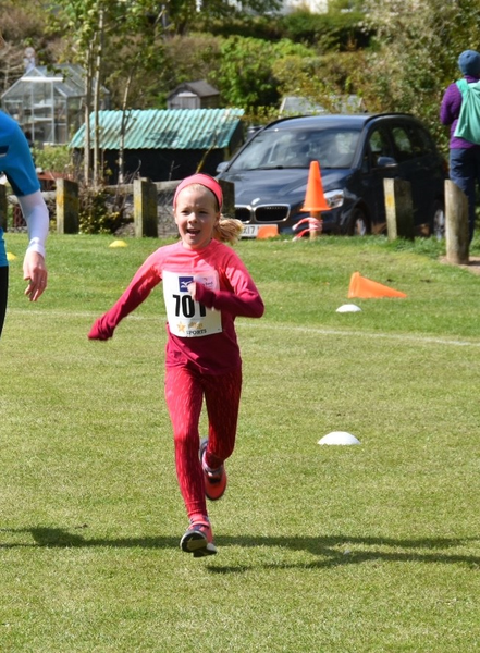 Amelia just about to cross the finishing line!