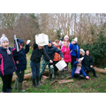 We litter picked in the forest school area.