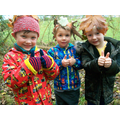 We made leaf crowns and became forest school kings