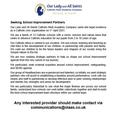 Seeking School Improvement Partners