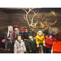 Posing at the Reindeer Lodge