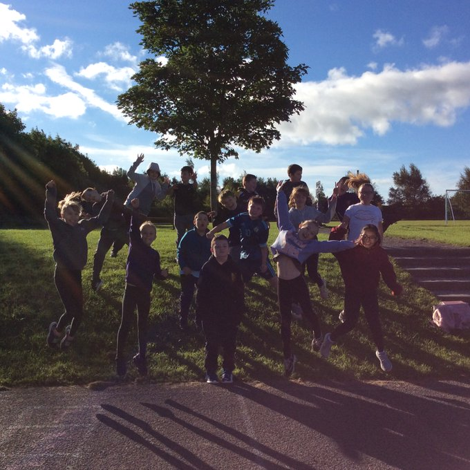 Year 6 had a lovely start to the morning with laps of the field on National Fitness Day